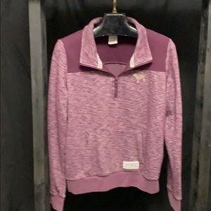Victoria's Secret PINK 1/4 zip sweatshirt LARGE